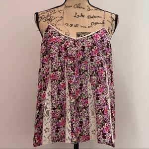 American Eagle Floral Lace Tank Size Large EUC